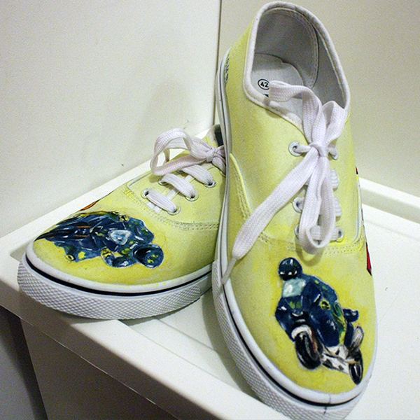 Fans For Hand Rossi Real Valentino Shoes Motogp Canvas Painted S7Hw8q